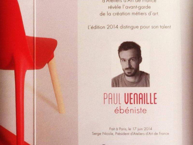 """Paul Venaille, """"laureat"""" de maison&objet 2014"""